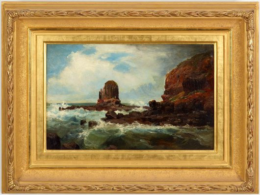 Alternate image of Pulpit Rock, Cape Schanck, Victoria by Nicholas Chevalier