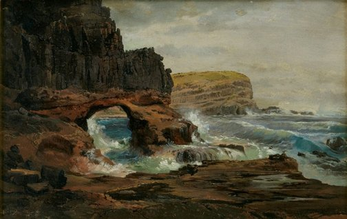 An image of Tunnel Rock, Cape Schanck, Victoria by Nicholas Chevalier