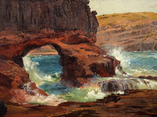 Alternate image of Tunnel Rock, Cape Schanck, Victoria by Nicholas Chevalier
