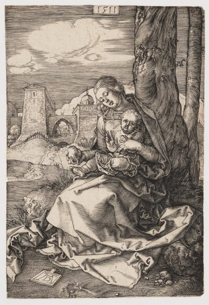 An image of The Virgin and Child with a pear by Albrecht Dürer