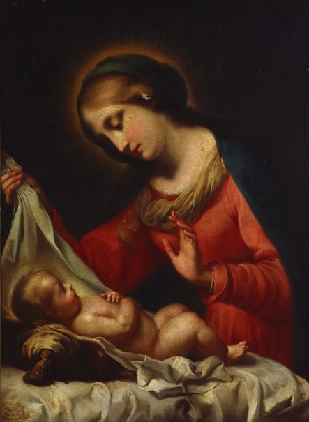 An image of Virgin and Child by Giovanni Brilli, after Carlo Dolci