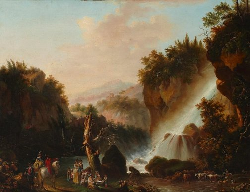 An image of Old falls of Tivoli by Unknown, after Jean Tierce