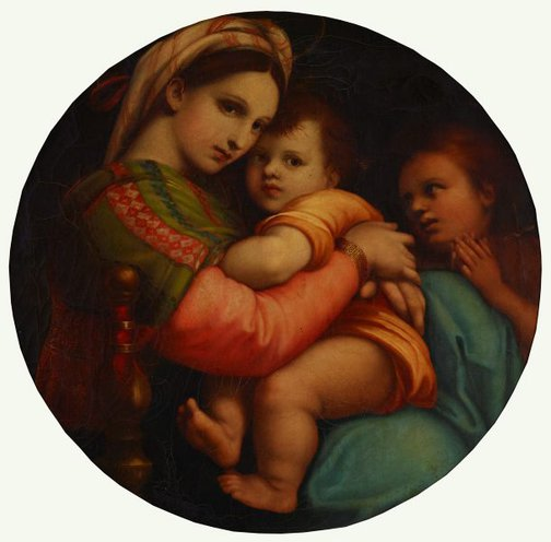 An image of Madonna della Sedia by Unknown, after Raphael