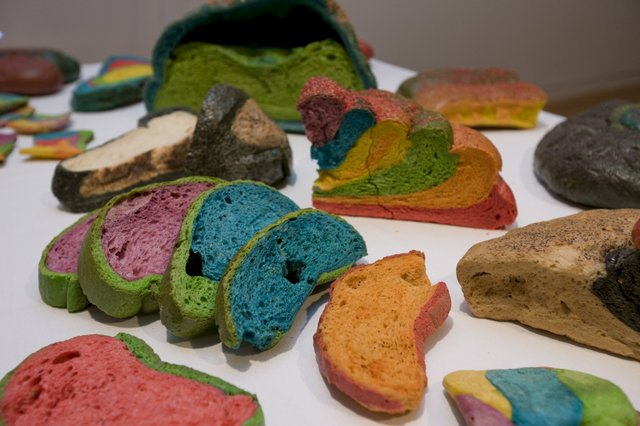 An image of Coloured bread