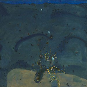Nightfall, when wattle stains the doubting heart, (1980) by John Olsen