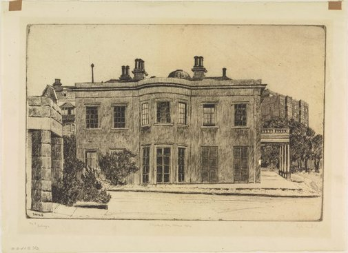 An image of Elizabeth Bay House by Sydney Ure Smith