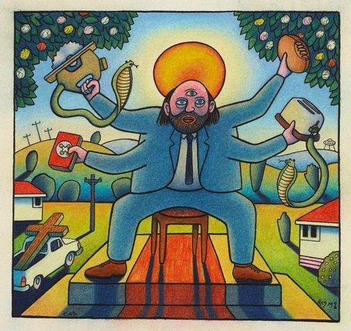 An image of Transcendental Australian Jesus by Chris O'Doherty