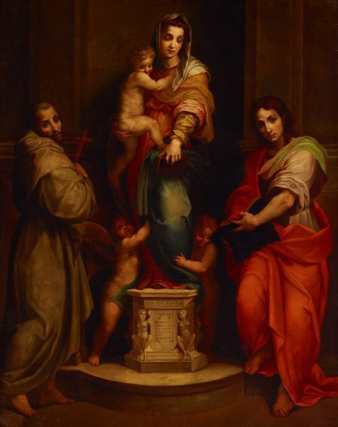 An image of La Madonna delle Arpie by Costa Conti, after Andrea del Sarto