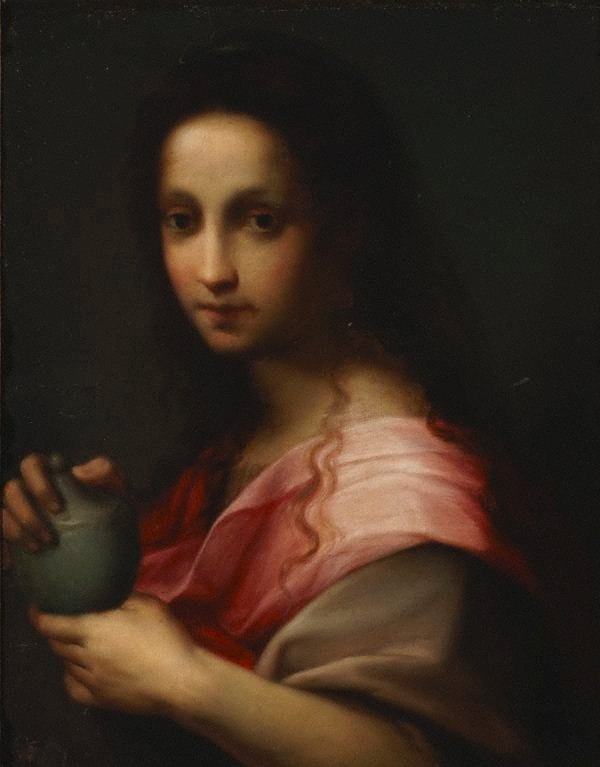 An image of Magdalene with alabaster box of ointment