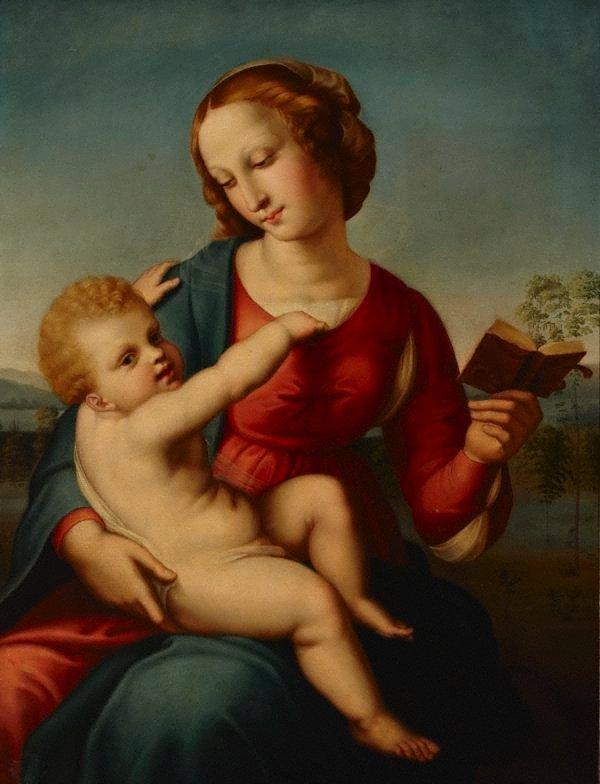 An image of Madonna col libro