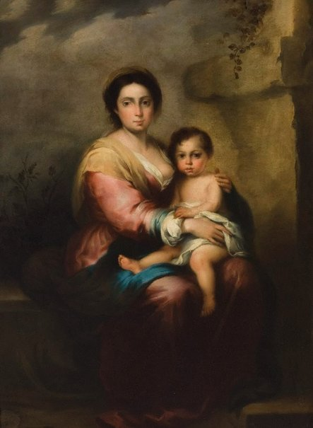 An image of Virgin and Child by Giovanni Brilli, after Bartolomé Esteban Murillo