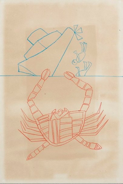 An image of Crab by Sidney Nolan