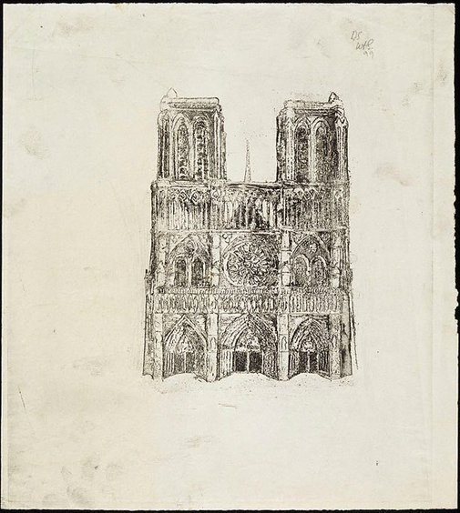 An image of Cathedral, Façade of Notre Dame by David Strachan