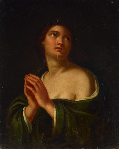 An image of The Magdalene by Giovanni Brilli, after Carlo Dolci