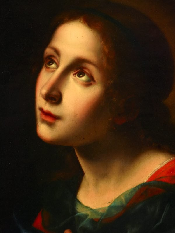 An image of The Virgin receiving the Message of the Annunciation