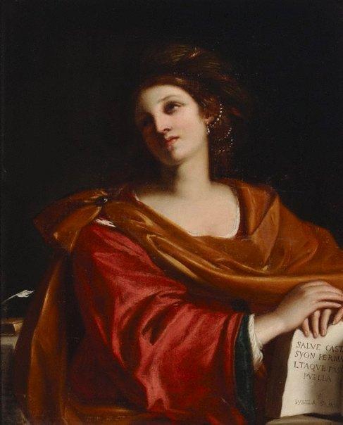 An image of Sybilla Samia by Galli, after Giovanni Francesco Barbieri Guercino