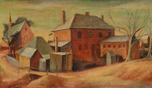 An image of Backbuildings by Margaret Olley