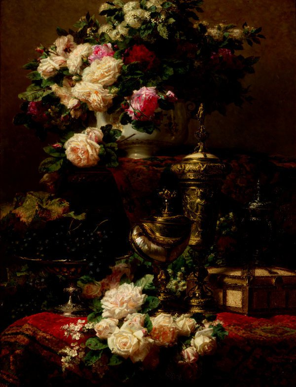 An image of Flowers and fruit