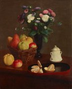 Flowers and fruit, 1866 by Henri Fantin-Latour