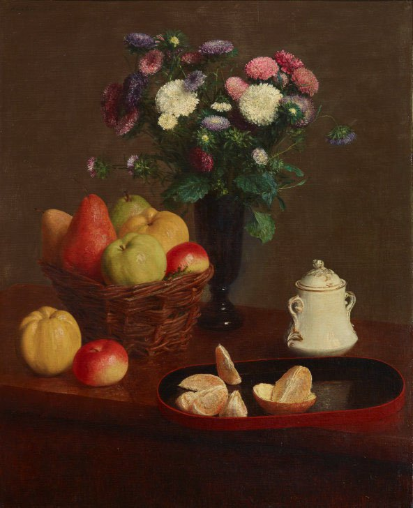 AGNSW collection Henri Fantin-Latour Flowers and fruit 1866