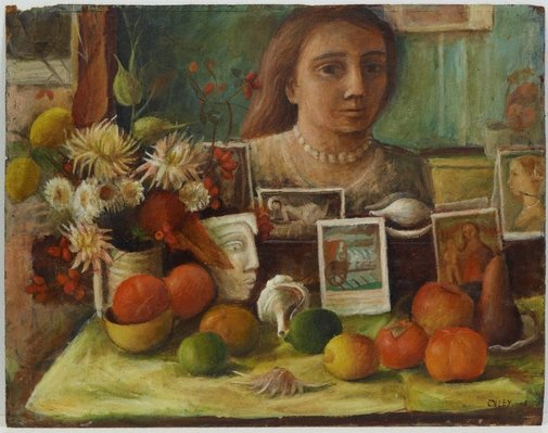 An image of Portrait in the mirror by Margaret Olley