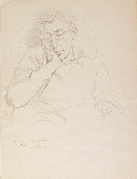 An image of Harold (Greenhill) half asleep, Paris by Douglas Watson