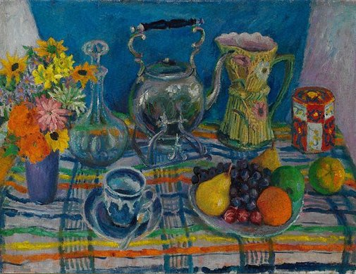 An image of Still life with kettle by Margaret Olley