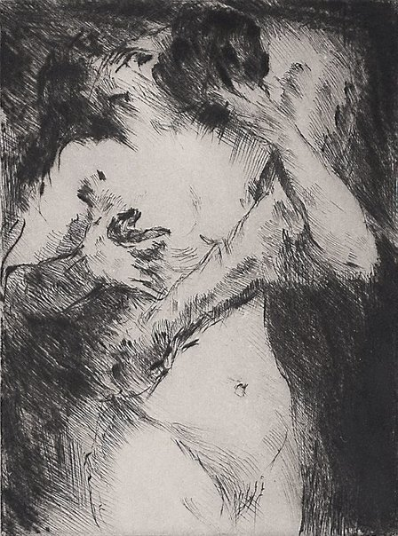 An image of The Kiss by Lovis Corinth