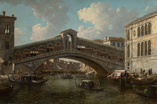 An image of The Rialto bridge, Venice by William Marlow