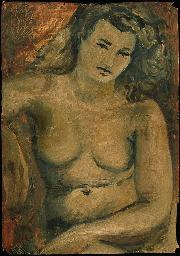 An image of Study for 'Head of a girl', 1947