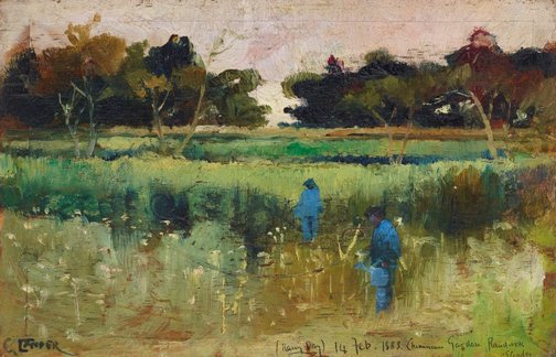 An image of Rainy day by Charles Conder