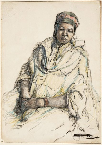 An image of African slave woman by Hilda Rix Nicholas