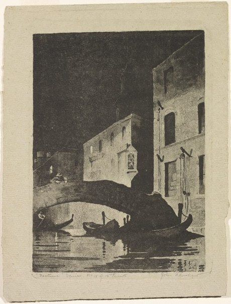 An image of Nocturne (Venice) by John Eldershaw