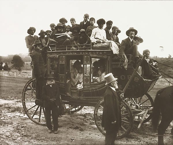 An image of Aboriginals off to Lake Tyers