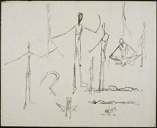 An image of Elongated figures by John Passmore