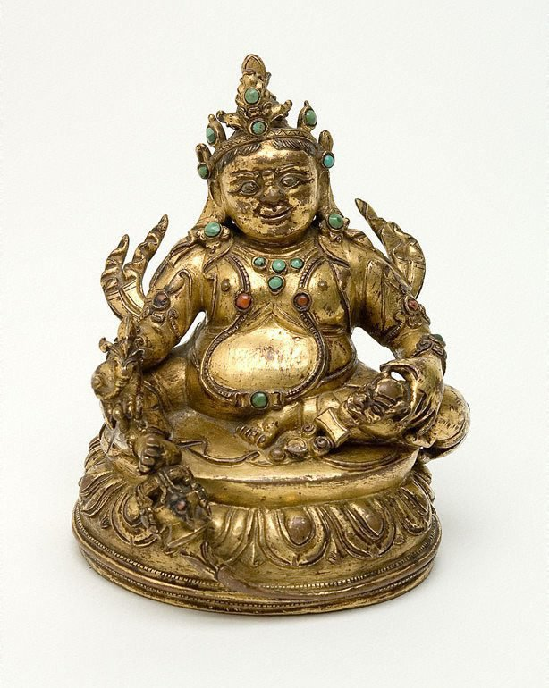 An image of Kubera, lord of wealth