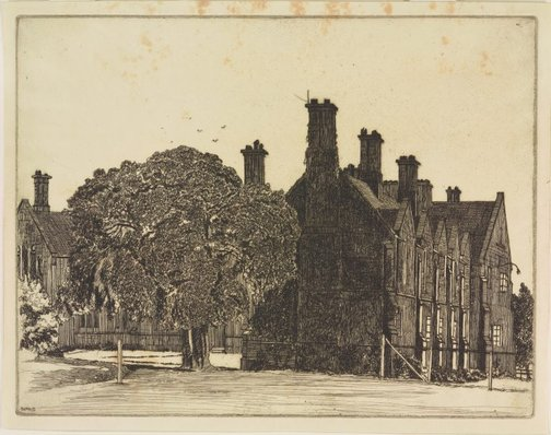 An image of St Paul's College by Sydney Ure Smith