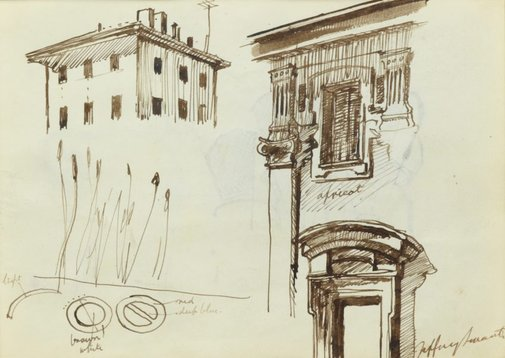An image of Detail drawing by Jeffrey Smart