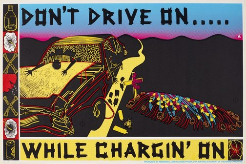 An image of Don't drive on by Marie McMahon, Redback Graphix