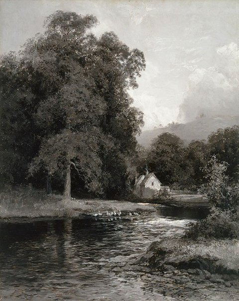 An image of The mill stream by WC Piguenit