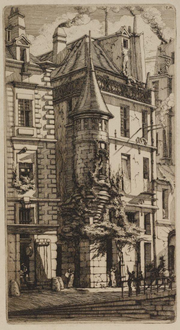An image of House with a turret, rue de la Tixéranderie, Paris
