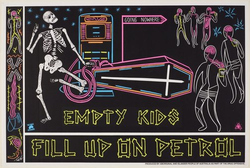 An image of Empty kids by Marie McMahon, Redback Graphix