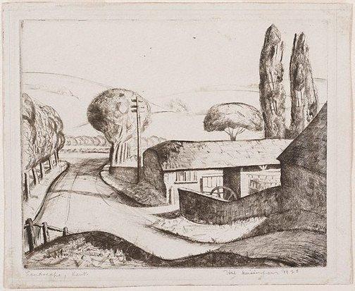 An image of Landscape, Kent by Hal Missingham