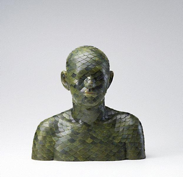 An image of Human, Human- Jade Inlay Bust 1