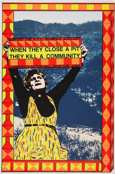 An image of When they close a pit they kill a community by Alison Alder, Redback Graphix