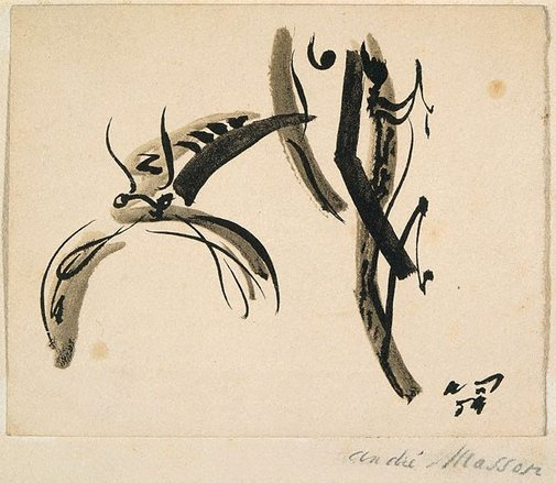 An image of Untitled (crayfish) by André Masson