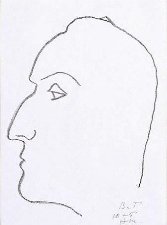 An image of Henry de Montherlant by Henri Matisse