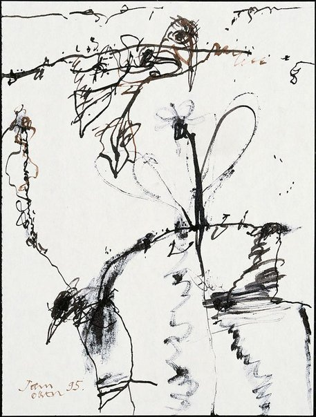 An image of (Landscape study) by John Olsen