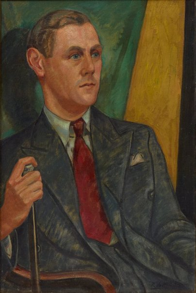 An image of Patrick White by Roy de Maistre