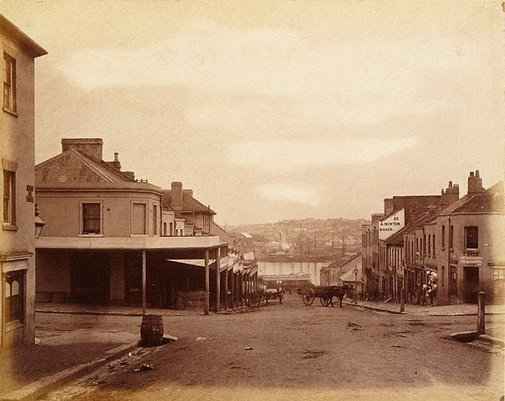 An image of Untitled (King and Kent Street, Sydney) by Henry Beaufoy Merlin, American and Australasian Photographic Co